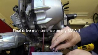 9. 2009 BMW R1200RT Final Drive Maintenance