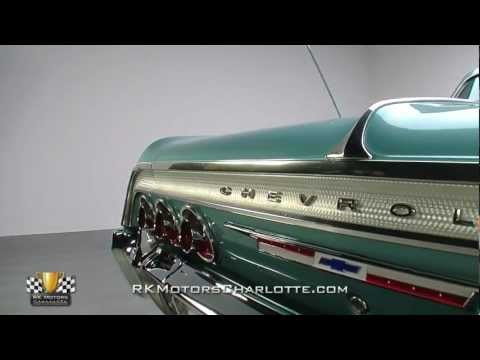 Corvette Stingray Mileage on Azure Aqua Poly 1964 Chevrolet Impala Ss   Rk Motors Charlotte