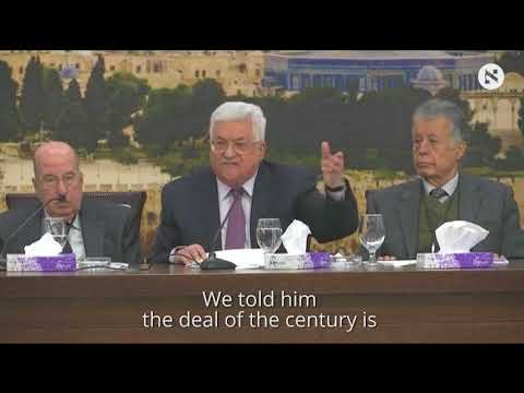 Palestinian president slams Trump's role in Israeli-Palestinian conflict