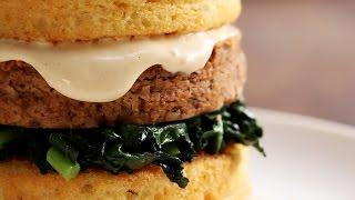 Mason Jar Cornbread Burger by Tasty