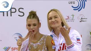 UEG Official – 33rd European Rhythmic Gymnastics Championships, Budapest (HUN), May 19-21, 2017. Hoop Final : Aleksandra SOLDATOVA (RUS), 18.150 (Difficulty : 8.900, Execution : 9.250). Rank : 2.Follow the European Union of Gymnastics on its channels to stay up to date with their latest news!