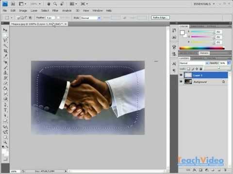 Как сделать край фото размытым фотошоп