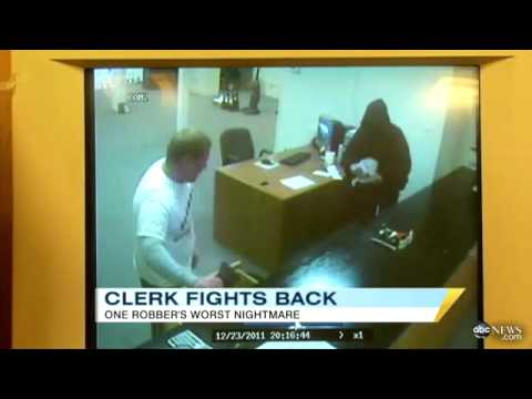 Clerk Stops Robbery With A Left Hook