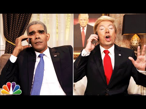 Donald Trump (Jimmy Fallon) Calls Obama After Indiana Win Skit