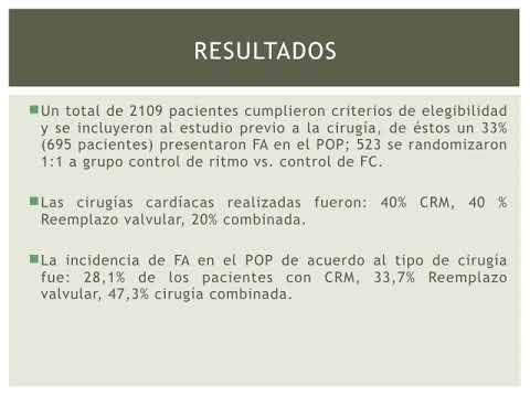 Control de ritmo vs control de FC en cirugia cardíaca. Dra. Florencia Anzivino. Residencia de Cardiología. Hospital C. Argerich. Buenos Aires