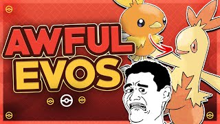 Top 10 Pokémon With TERRIBLE Evolutions by HoopsandHipHop