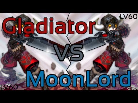Dragon Nest: Gladiator Vs MoonLord (Level 60 Gameplay!)