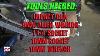 5. John Deere Gator 825i 620i 855D: How to remove Rear Axle from JD XUV