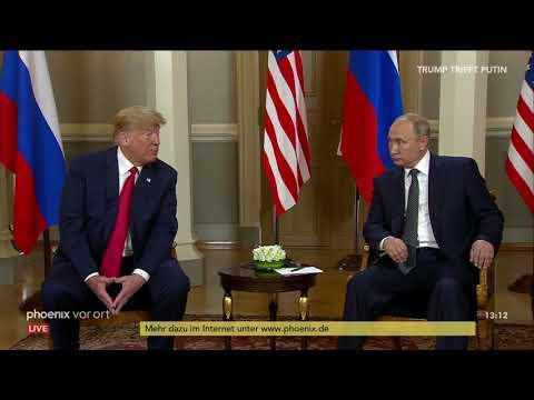 Auftakt des Treffens von Donald Trump und Wladimir Putin zum Gipfeltreffen in Helsinki am 16.07.18