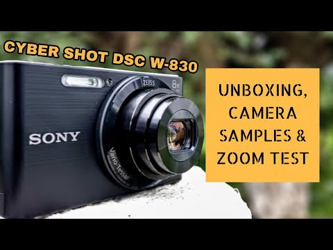 Sony CyberShot DSC-W830 Digital Camera Unboxing & Review - Camera samples & Zoom Test in Hindi