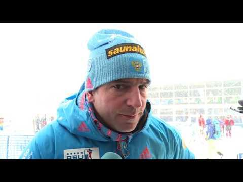 Рикко Гросс после мужского пасьюта на 5-м этапе Кубка мира по биатлону в Рупольдинге