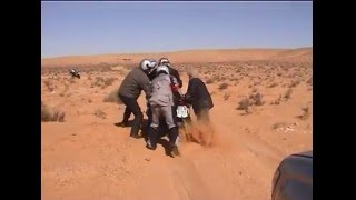 10. Difficult motorcycling in the desert with BMW R 1200 GS Adventure and Beta Alp4