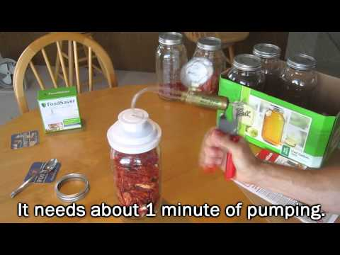 Vacuum Seal a Mason Jar with a Handcrank Pump - Food Storage SHTF Survival Prep