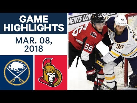 Video: NHL Game Highlights | Sabres vs. Senators - Mar. 08, 2018