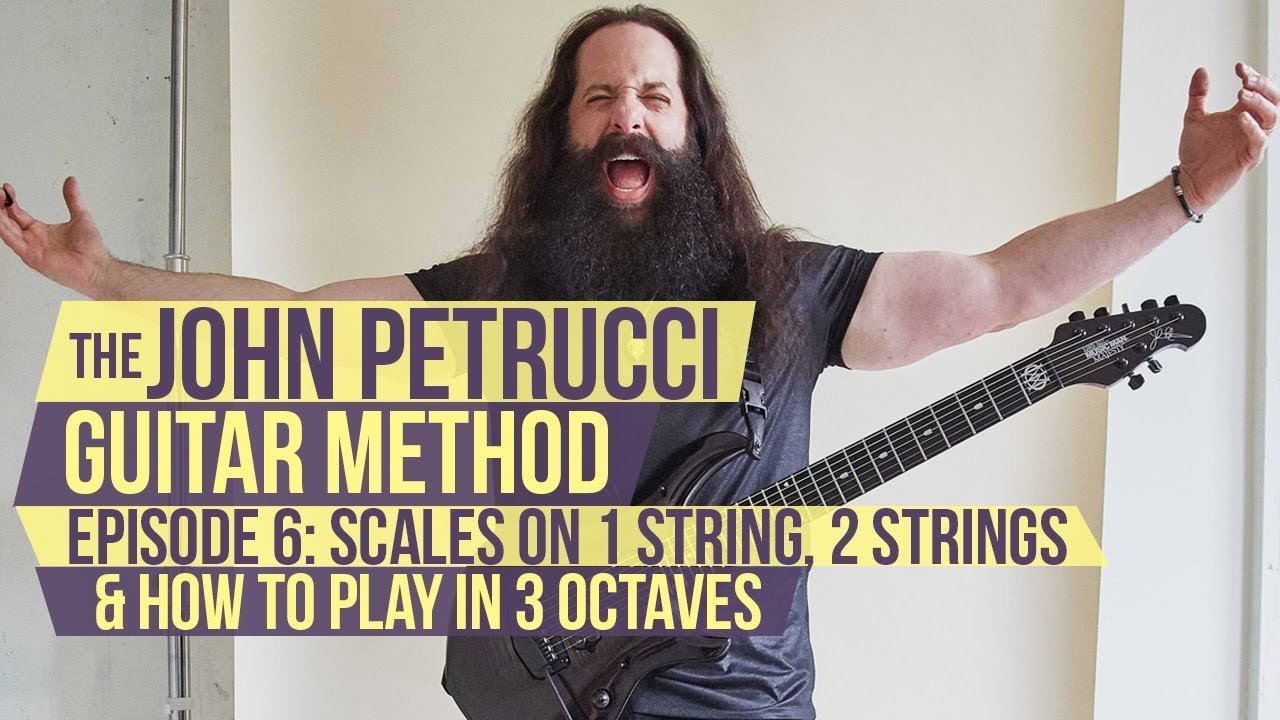 The John Petrucci Guitar Method – Episode 6: Scales on 1 String, 2 Strings, Playing in 3 Octaves