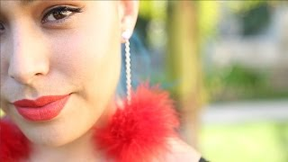 Feather Pom Pom Earrings ♥ DIY - YouTube