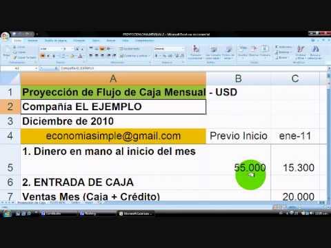 Cómo hacer un Presupuesto / Flujo de Caja (cash flow) en Excel - vídeo 4, planilla gratis
