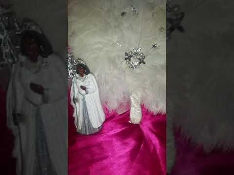 Orisha Orisa Orixa Obatala Oxala Orishanla mirror,  fan, statue