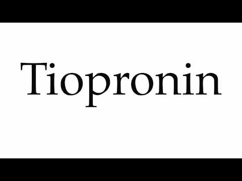 How to Pronounce Tiopronin