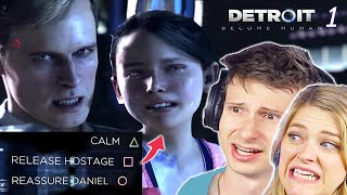 Scared Buddies Make Impossible Decisions In Detroit Become Human