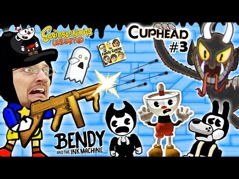 BENDY & THE INK MACHINE + SCRIBBLENAUTS UNLIMITED + CUPHEAD! FGTEEV Cheats & Beat Entire Game FAST!! (видео)