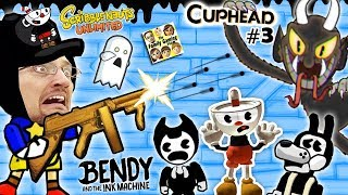 BENDY & THE INK MACHINE + SCRIBBLENAUTS UNLIMITED + CUPHEAD! FGTEEV Cheats & Beat Entire Game FAST!!