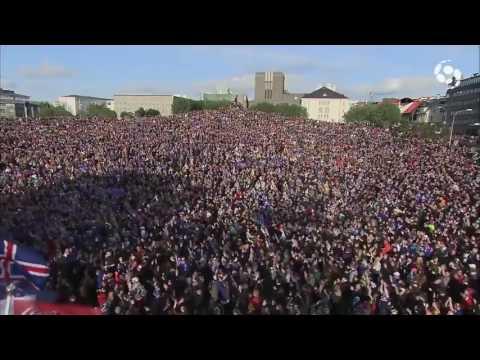 الآيسلنديون يقومون بلقطة ' التصفيق الأخيرة ' تقديرا لانجاز منتخبها العائد من اليورو (فيديو)