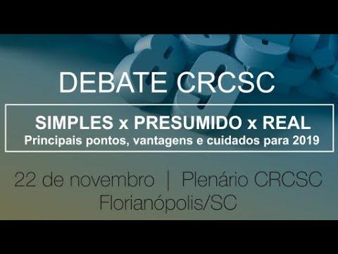 Debate CRCSC - Simples x Presumido x Real
