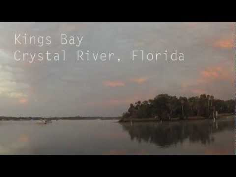 Time lapse of Kings Bay in Crystal River, Florida