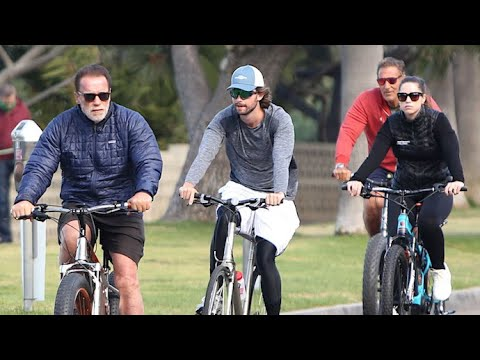 Arnold Schwarzenegger Keeping Fit With The Family
