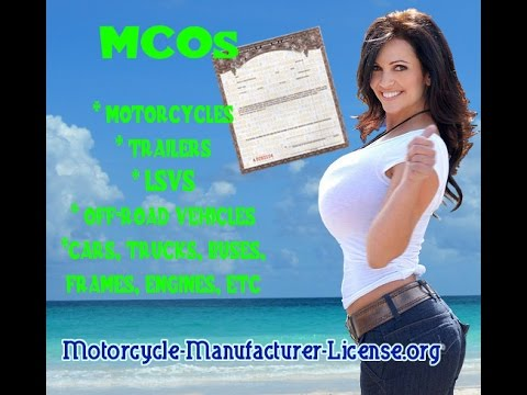 MCOs Certificates of Origin for Vehicles - Motorcycles, Trailers, Trikes, Frames , Etc...