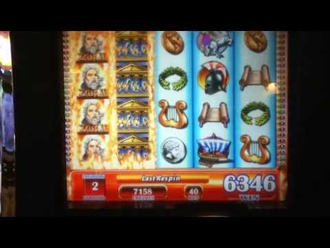 "ZEUS II Penny Video Slot Machine with BONUS, SUPER RESPINS and ""BIG WINS"" Las Vegas Casino"