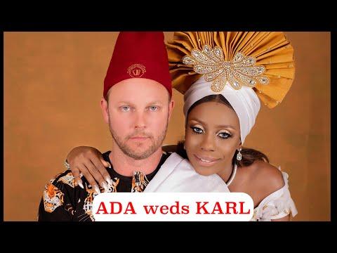 Adakarl marries Swedish hubby in a very traditional Igbo style