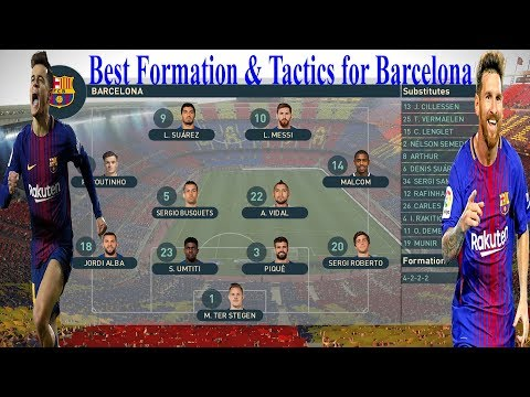PES 2019 - Best Formation & Tactics For Barcelona