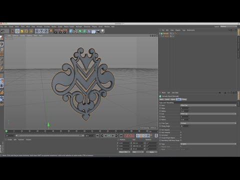 Cinema 4D Tutorial  Importing From Adobe Illustrator And Make 3D