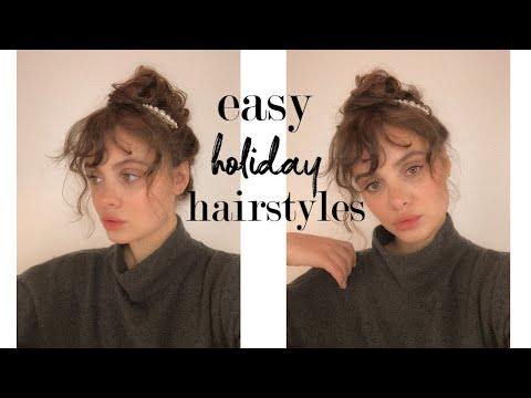 3 easy holiday hairstyles for curly hair