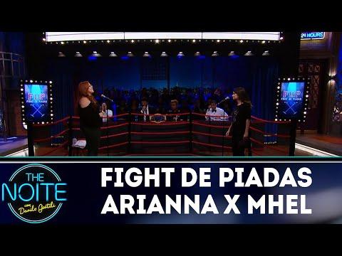 Piadas engraçadas - Fight de Piadas: Ariana Nutt x Mhell Marrer  The Noite (19/04/18)