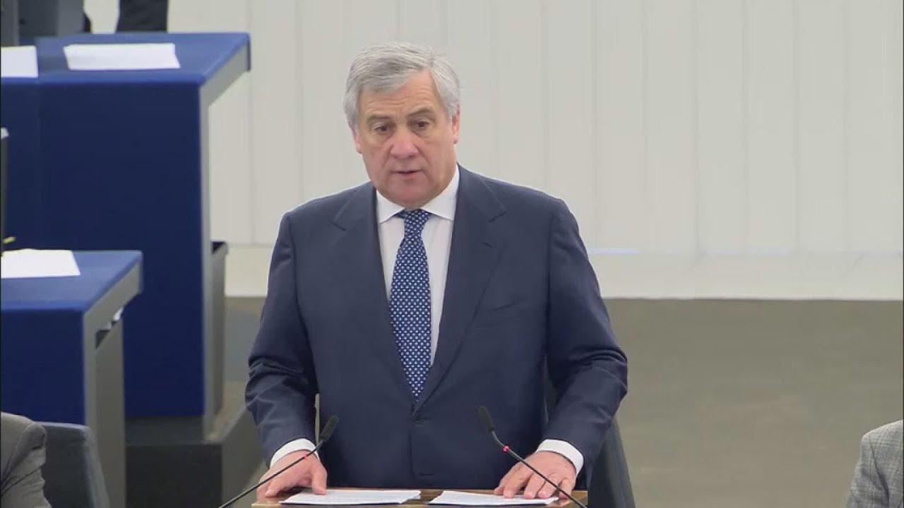 Δήλωση του πρ. του Ευρωπαϊκού Κοινοβουλίου, Αντόνιο Ταγιάνι