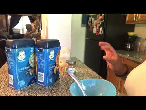 HOW TO MAKE GERBER OATMEAL FOR BABIES