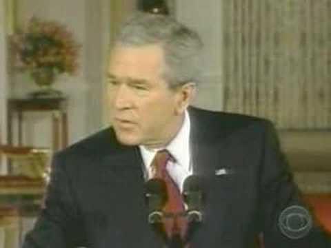 Bush er frat etandi skít