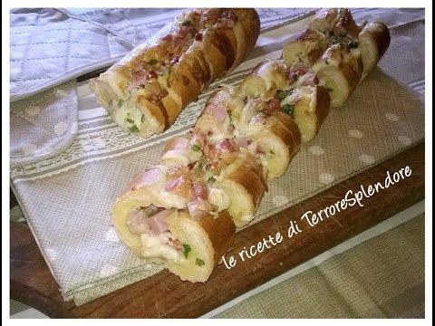 video ricetta: baguette farcita al forno
