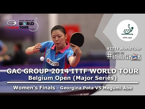 open - Review all the highlights from the Georgina Pota Vs Megumi Abe FINAL from the ITTF Belgium Open 2014 ©TMS International All content is the copyright of TMS International, on behalf of the...