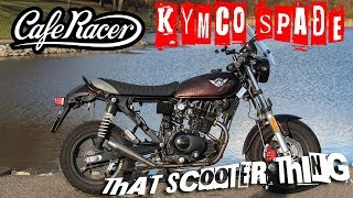 8. TST Test Ride  - Custom Kymco Spade 150 Cafe Racer, failed GoPro mount