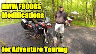 4. BMW F800GS Modifications for Adventure Touring