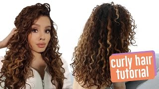 My CURLY Hair Routine by Alexandras Girly Talk