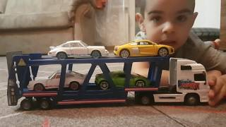car transporter cars for kids & toy truck for kids by car transporter Subscribe our channel to see all the videos of children:...