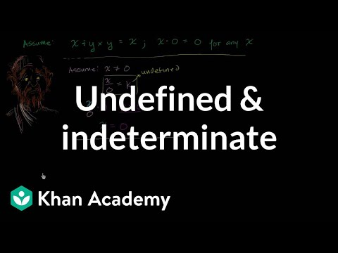 Undefined Indeterminate Expressions Algebra Video Khan Academy