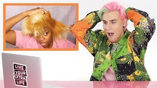 Video HAIRDRESSER REACTS TO NATURAL HAIR BLEACH FAIL! MP3, 3GP, MP4, WEBM, AVI, FLV Juni 2019