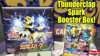 NEW Pokemon Thunderclap Spark SM7a Japanese Booster Box Opening! by The Pokémon Evolutionaries