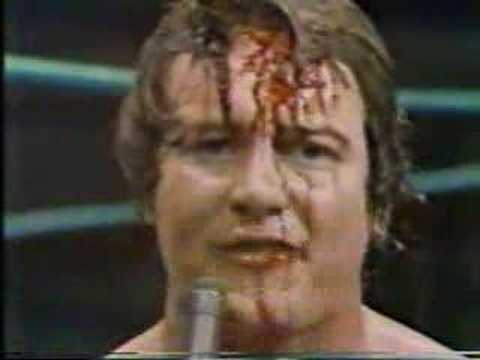Goodnight sweet prince. Rowdy Roddy Piper has passed away. Here he is smashing a full glass beer bottle over his head in order to intimidate the competition.